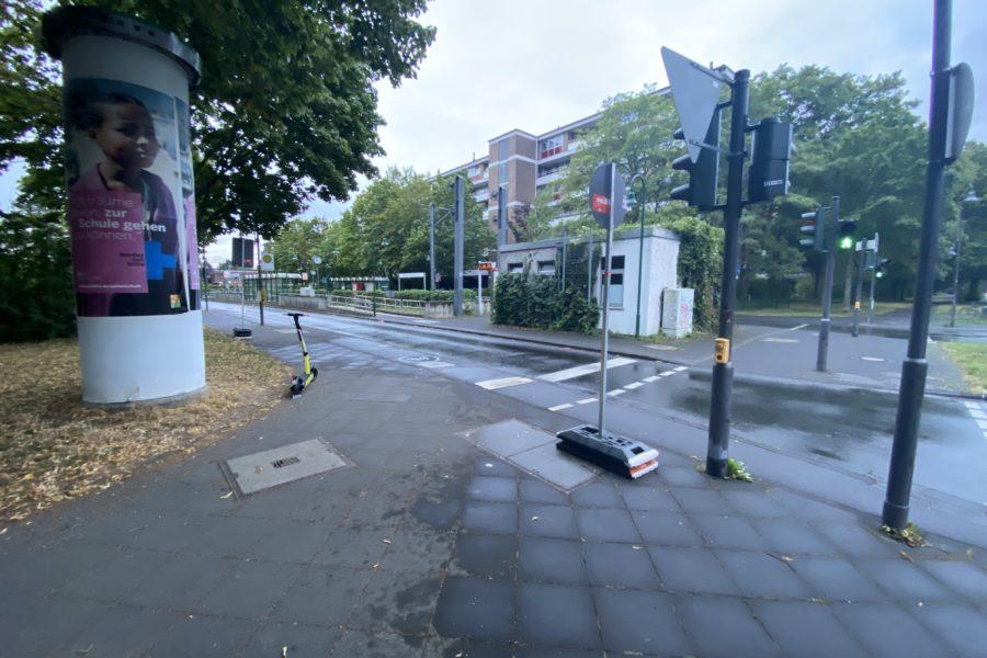 Endhaltestelle Kopenhagener Straße in Auerberg