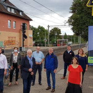 Treffen der SPD-Ortsvereine Bonn-Nord und Bornheim am Bahnhof Hersel